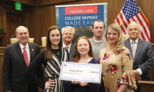 Tennessee Treasury's TNStars 529 College Savings Program awards $5,000...