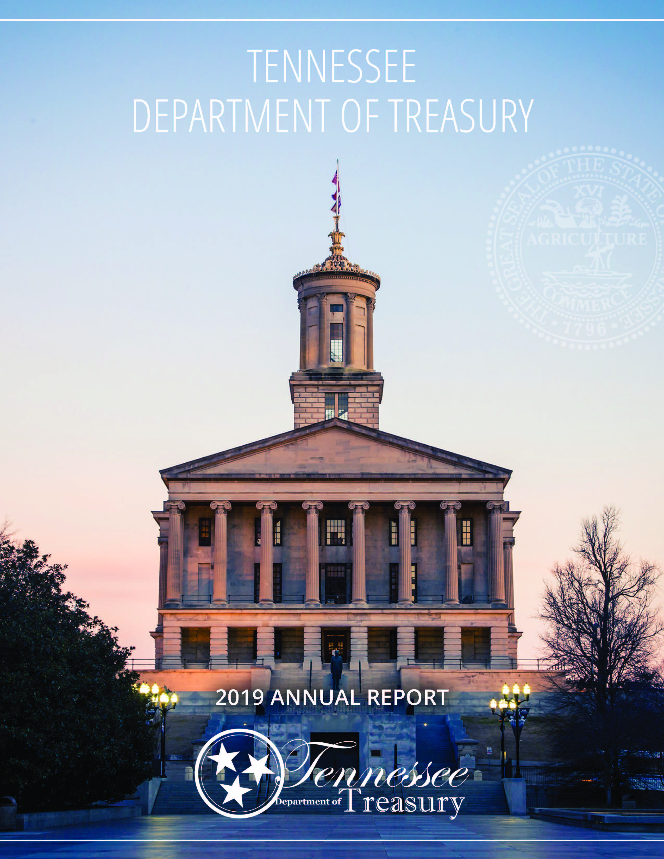 Cover of 2019 Treasurer's Report, Tennessee State Capitol