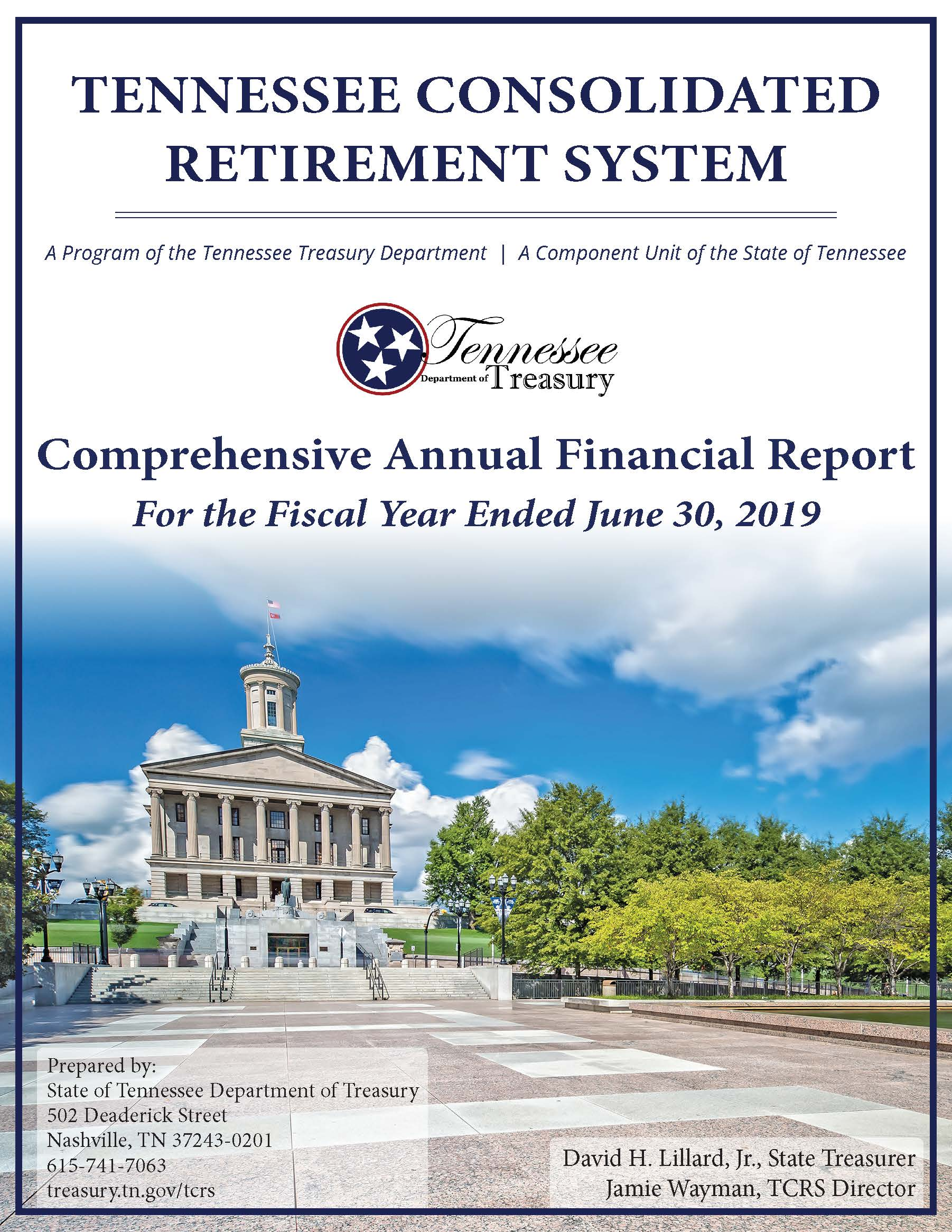 2019 TCRS Comprehensive Annual Financial Report (CAFR) cover