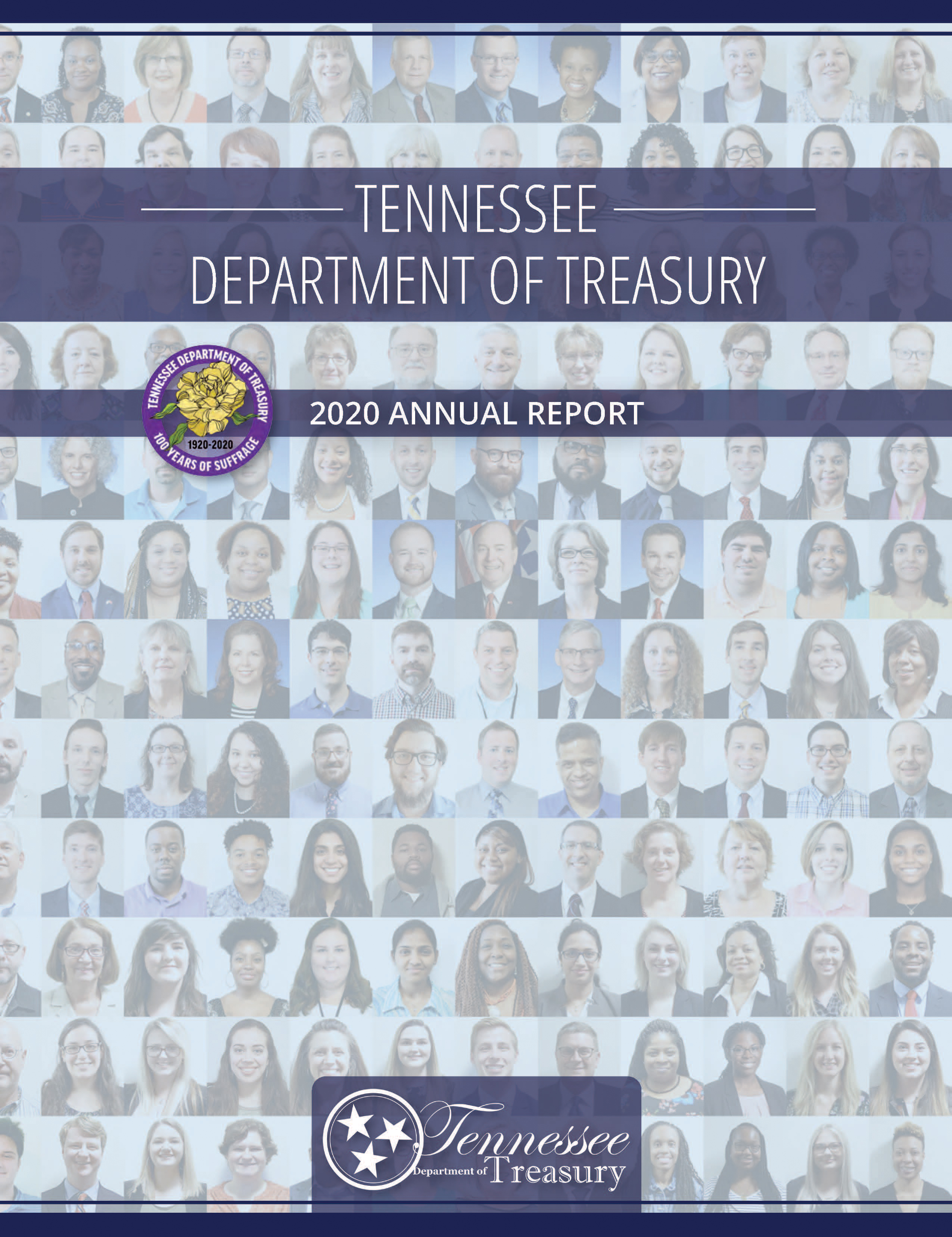 Cover of 2020 Treasurer's Report, Tennessee Treasury Staff