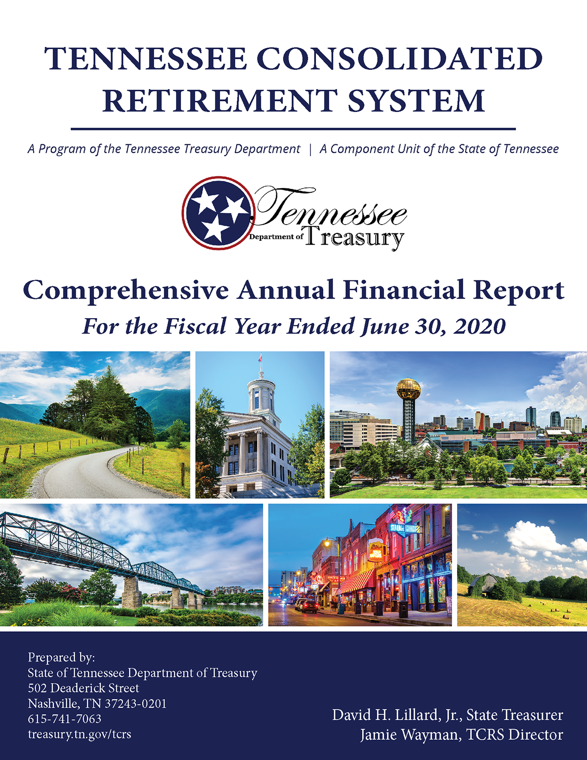 2020 TCRS Comprehensive Annual Financial Report (CAFR) cover